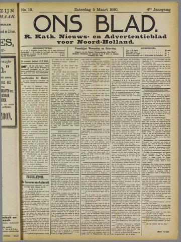 Ons Blad : katholiek nieuwsblad voor N-H 1910-03-05