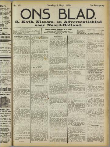Ons Blad : katholiek nieuwsblad voor N-H 1913-09-02