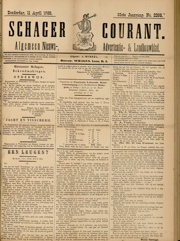 Schager Courant 1889-04-11