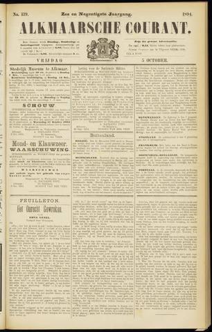 Alkmaarsche Courant 1894-10-05