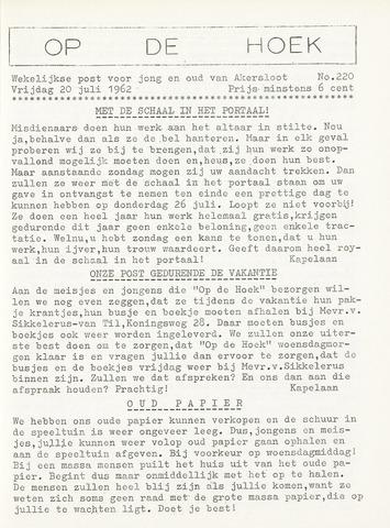 Op De Hoek, weekblad voor Akersloot 1962-07-20