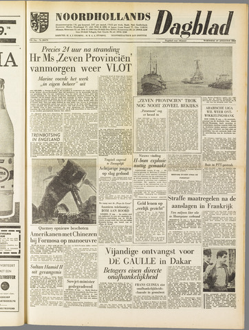 Noordhollands Dagblad : dagblad voor Alkmaar en omgeving 1958-08-27