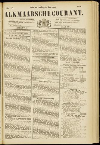 Alkmaarsche Courant 1886-04-18