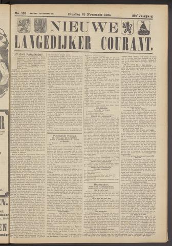 Nieuwe Langedijker Courant 1924-11-25