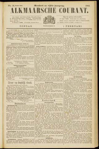 Alkmaarsche Courant 1903-02-01