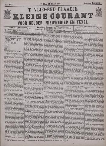 Vliegend blaadje : nieuws- en advertentiebode voor Den Helder 1881-03-11