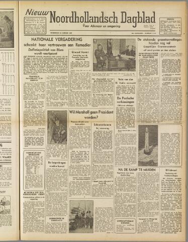 Nieuw Noordhollandsch Dagblad : voor Alkmaar en omgeving 1947-01-22