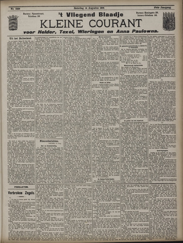 Vliegend blaadje : nieuws- en advertentiebode voor Den Helder 1909-08-14