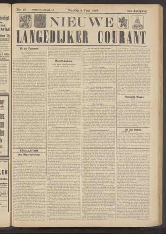 Nieuwe Langedijker Courant 1926-06-08