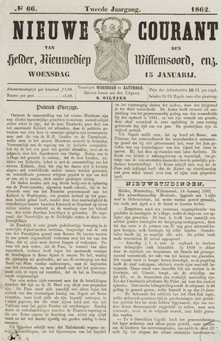 Nieuwe Courant van Den Helder 1862-01-15