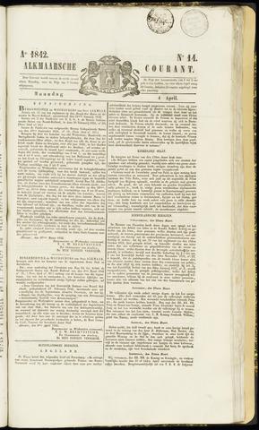 Alkmaarsche Courant 1842-04-04