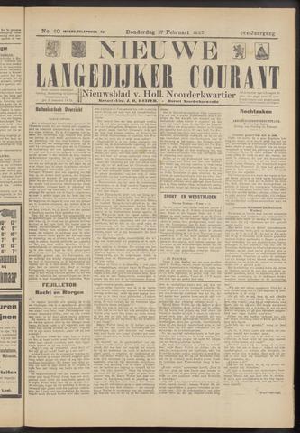 Nieuwe Langedijker Courant 1927-02-17