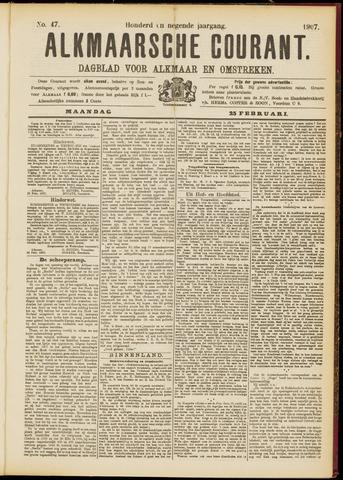 Alkmaarsche Courant 1907-02-25
