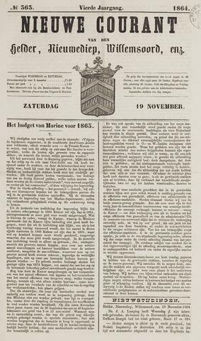 Nieuwe Courant van Den Helder 1864-11-19