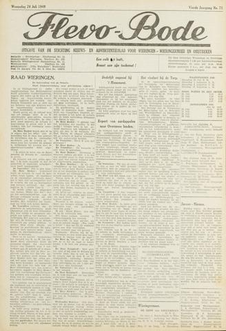 Flevo-bode: nieuwsblad voor Wieringen-Wieringermeer 1949-07-20