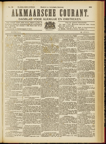 Alkmaarsche Courant 1918-04-23