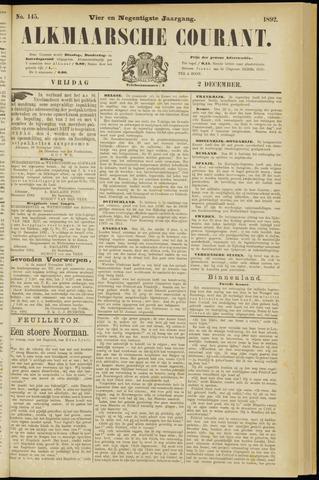 Alkmaarsche Courant 1892-12-02
