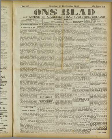 Ons Blad : katholiek nieuwsblad voor N-H 1919-09-23