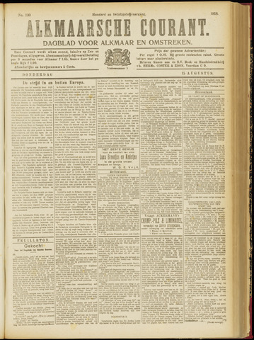 Alkmaarsche Courant 1918-08-15