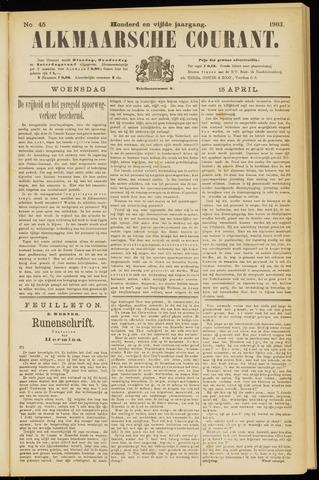 Alkmaarsche Courant 1903-04-15