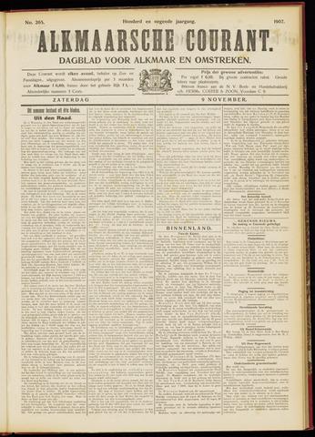 Alkmaarsche Courant 1907-11-09