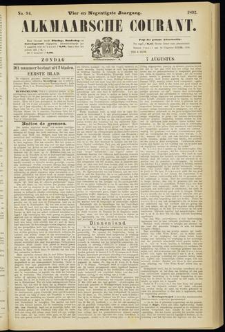 Alkmaarsche Courant 1892-08-07
