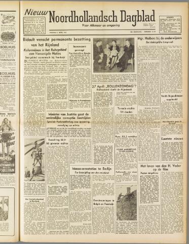 Nieuw Noordhollandsch Dagblad : voor Alkmaar en omgeving 1947-04-11