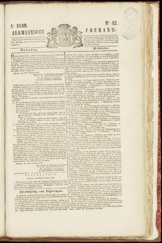 Alkmaarsche Courant 1849-10-22
