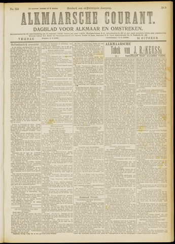 Alkmaarsche Courant 1919-10-24