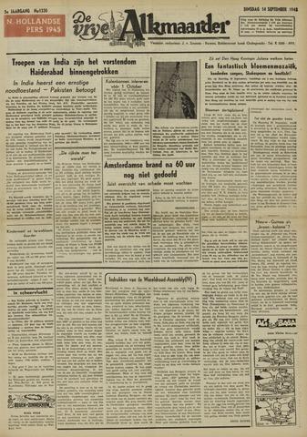 De Vrije Alkmaarder 1948-09-14