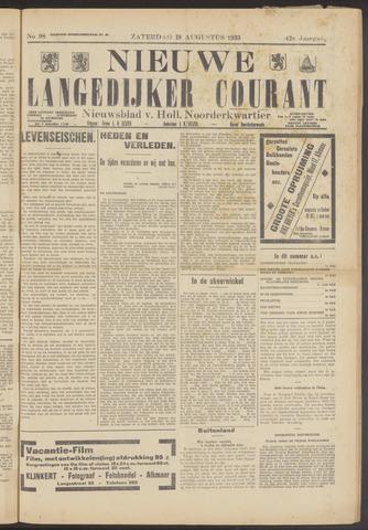 Nieuwe Langedijker Courant 1933-08-19