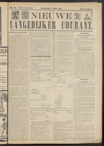 Nieuwe Langedijker Courant 1925-05-07