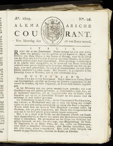 Alkmaarsche Courant 1809-06-26