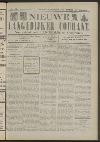 Nieuwe Langedijker Courant 1921-11-19