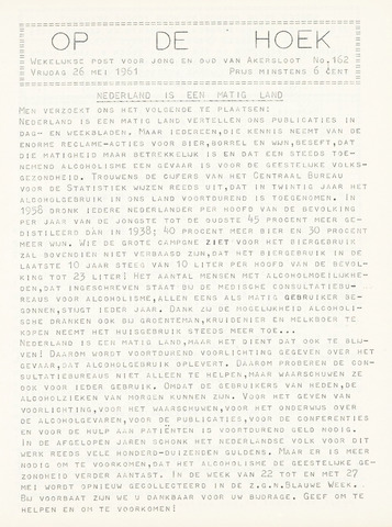 Op De Hoek, weekblad voor Akersloot 1961-05-26