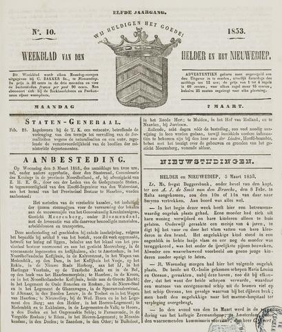 Weekblad van Den Helder en het Nieuwediep 1853-03-07