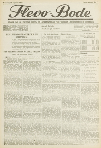 Flevo-bode: nieuwsblad voor Wieringen-Wieringermeer 1949-08-10