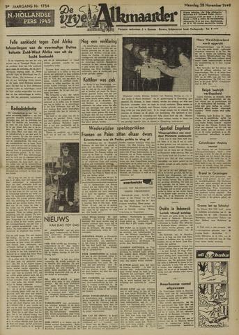 De Vrije Alkmaarder 1949-11-28
