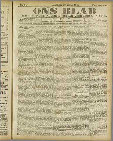 Ons Blad : katholiek nieuwsblad voor N-H 1919-03-10
