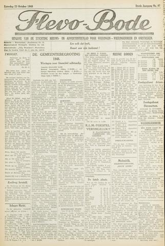 Flevo-bode: nieuwsblad voor Wieringen-Wieringermeer 1948-10-23