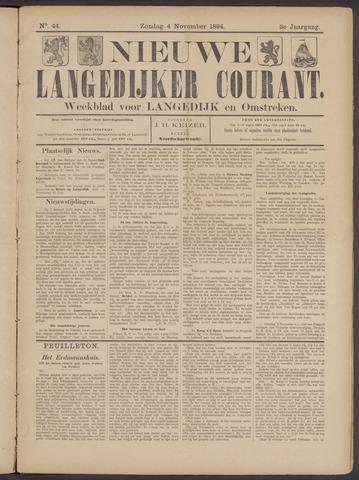 Nieuwe Langedijker Courant 1894-11-04