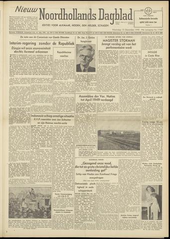 Nieuw Noordhollandsch Dagblad : voor Alkmaar en omgeving 1948-12-13