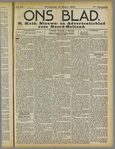 Ons Blad : katholiek nieuwsblad voor N-H 1909-03-24