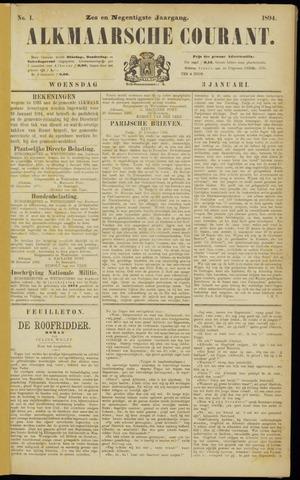 Alkmaarsche Courant 1894-01-03