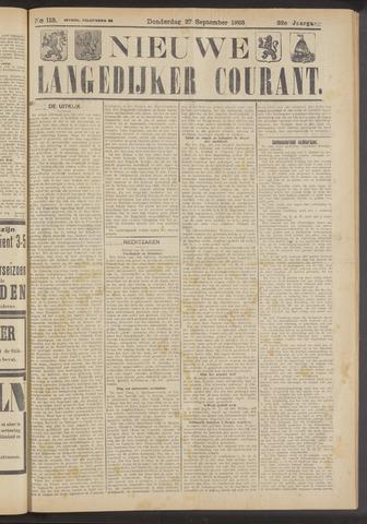 Nieuwe Langedijker Courant 1923-09-27