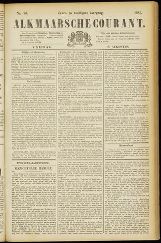 Alkmaarsche Courant 1885-08-14