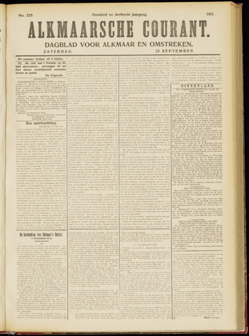 Alkmaarsche Courant 1911-09-23