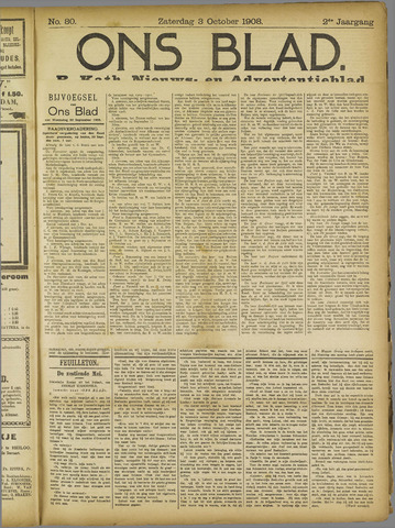 Ons Blad : katholiek nieuwsblad voor N-H 1908-10-03
