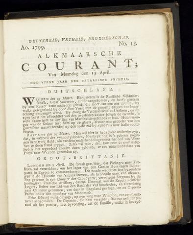 Alkmaarsche Courant 1799-04-15
