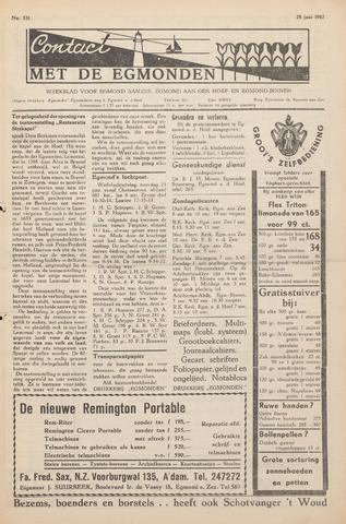 Contact met de Egmonden 1962-06-28